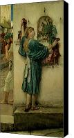 Alma-tadema; Sir Lawrence (1836-1912) Canvas Prints - The Street Altar Canvas Print by Sir Lawrence Alma-Tadema