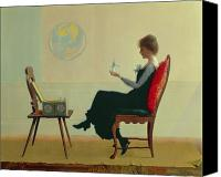 Sat Canvas Prints - The Suitors Canvas Print by Harry Wilson Watrous