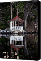 New Hampshire Canvas Prints - The Summer House Canvas Print by Skip Willits