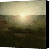 Later Canvas Prints - The Sun Canvas Print by Giuseppe Pellizza da Volpedo