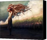Field Digital Art Canvas Prints - The Sundered Canvas Print by Ethan Harris