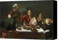 Appearance Canvas Prints - The Supper at Emmaus Canvas Print by Caravaggio
