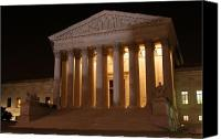 D.c. Photo Canvas Prints - The Supreme Court Building at Night Canvas Print by Brian M Lumley
