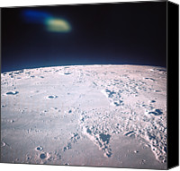 Astronomy Canvas Prints - The Surface Of The Moon Canvas Print by Stockbyte