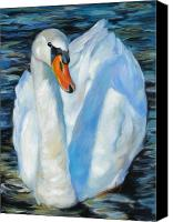Blue Swan Canvas Prints - The Swan Canvas Print by Chris Brandley