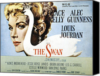 1950s Poster Art Canvas Prints - The Swan, Grace Kelly, 1956 Canvas Print by Everett