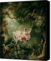 Jean Canvas Prints - The Swing  Canvas Print by Jean-Honore Fragonard