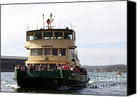 Sydney Photographs Canvas Prints - The Sydney Harbour Ferry Supply Canvas Print by Joanne Kocwin