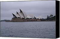 Photo-realism Canvas Prints - The Sydney Opera House  Canvas Print by Brian Leverton