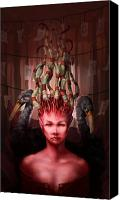Eggs Digital Art Canvas Prints - The Symbolist Canvas Print by Ethan Harris