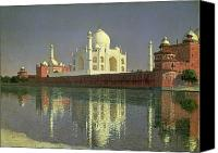 1842 Canvas Prints - The Taj Mahal Canvas Print by Vasili Vasilievich Vereshchagin