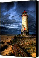 Vacation Digital Art Canvas Prints - The Talacre Lighthouse Canvas Print by Adrian Evans