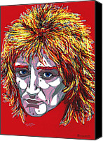 Rocker Canvas Prints - The Tartan of Rod Stewart Canvas Print by Suzanne Gee