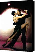 Tango Canvas Prints - The Temptation of Tango Canvas Print by Richard Young