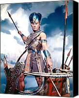 1956 Movies Photo Canvas Prints - The Ten Commandments, Yul Brynner, 1956 Canvas Print by Everett