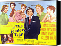 1955 Movies Canvas Prints - The Tender Trap, Frank Sinatra, David Canvas Print by Everett