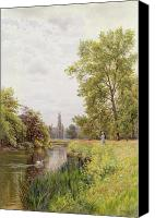 1884 Canvas Prints - The Thames at Purley Canvas Print by William Bradley