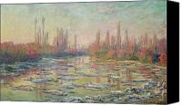 La Seine Canvas Prints - The Thaw on the Seine Canvas Print by Claude Monet