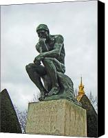 Souvenir Canvas Prints - The Thinker by Rodin Canvas Print by Al Bourassa