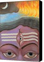 Indian God Canvas Prints - The Third Eye  Canvas Print by Usha Shantharam