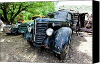 Old Trucks Canvas Prints - The Three Amigos Canvas Print by James Steele