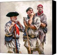 American Revolution Canvas Prints - The Three Frontiersmen  Canvas Print by Randy Steele