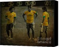 Hulk Canvas Prints - The Three Kings Marcelo Hulk Neymar Os Tres Reis  Canvas Print by Lee Dos Santos
