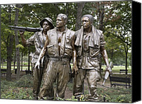D.c. Canvas Prints - The Three Soldiers By Frederick Hart Canvas Print by Everett