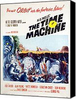 1960 Movies Canvas Prints - The Time Machine, 1960 Canvas Print by Everett