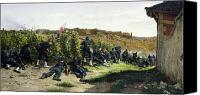 La Seine Canvas Prints - The Tirailleurs de la Seine at the Battle of Rueil Malmaison Canvas Print by Etienne Prosper Berne-Bellecour