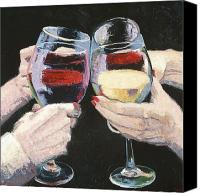 Wine Art Canvas Prints - The Toast Number One  Canvas Print by Christopher Mize