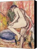 Wash Pastels Canvas Prints - The Toilet Canvas Print by Edgar Degas