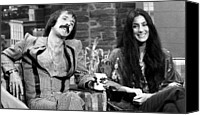 Bono Canvas Prints - The Tonight Show, Sonny & Cher, 1975 Canvas Print by Everett