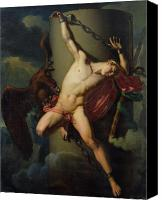 Bondage Canvas Prints - The Torture of Prometheus Canvas Print by Jean-Louis-Cesar Lair