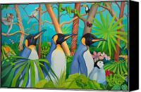 Tourists Painting Canvas Prints - The Tourists Canvas Print by Robert Lacy