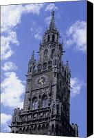 Rathaus Photo Canvas Prints - The Tower On The Rathaus, City Canvas Print by Taylor S. Kennedy
