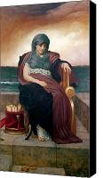 Sat Canvas Prints - The Tragic Poetess Canvas Print by Frederic Leighton