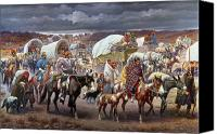America Tapestries Textiles Canvas Prints - The Trail Of Tears Canvas Print by Granger