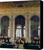 Discussion Canvas Prints - The Treaty of Versailles Canvas Print by Sir William Orpen