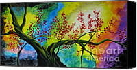 Quadro Glass Art Canvas Prints - The tree Canvas Print by Betta Artusi