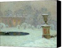 Le Jardin Canvas Prints - The Trianon Under Snow Canvas Print by Henri Eugene Augustin Le Sidaner