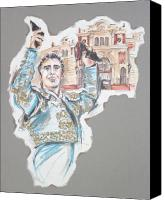 Torero Mixed Media Canvas Prints - The Triumph or El Triunfo Canvas Print by Jill Bennett