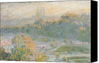 1875 Canvas Prints - The Tuileries Canvas Print by Claude Monet