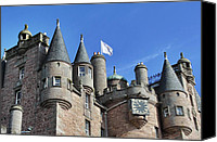 Fantasy Photo Canvas Prints - The Turrets of Glamis Castle Canvas Print by Jason Politte