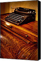 Typewriter Canvas Prints - The Typewriter Canvas Print by David Patterson
