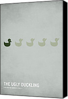 Digital Art Canvas Prints - The Ugly Duckling Canvas Print by Christian Jackson