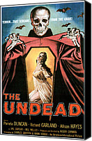 1957 Movies Canvas Prints - The Undead, Pamela Duncan, 1957 Canvas Print by Everett