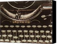 Typewriter Canvas Prints - The Underwood Canvas Print by Lisa Russo