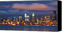 Seattle Waterfront Canvas Prints - The Unexpected Canvas Print by Aaron Reed Photography