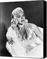 1957 Movies Canvas Prints - The Unholy Wife, Diana Dors, 1957 Canvas Print by Everett